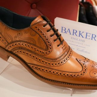 Barker Men's Shoes, Romsey, Hampshire McLean Tan Laser