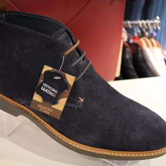 Mens Shoes Romsey - Desert Boots Navy Suede