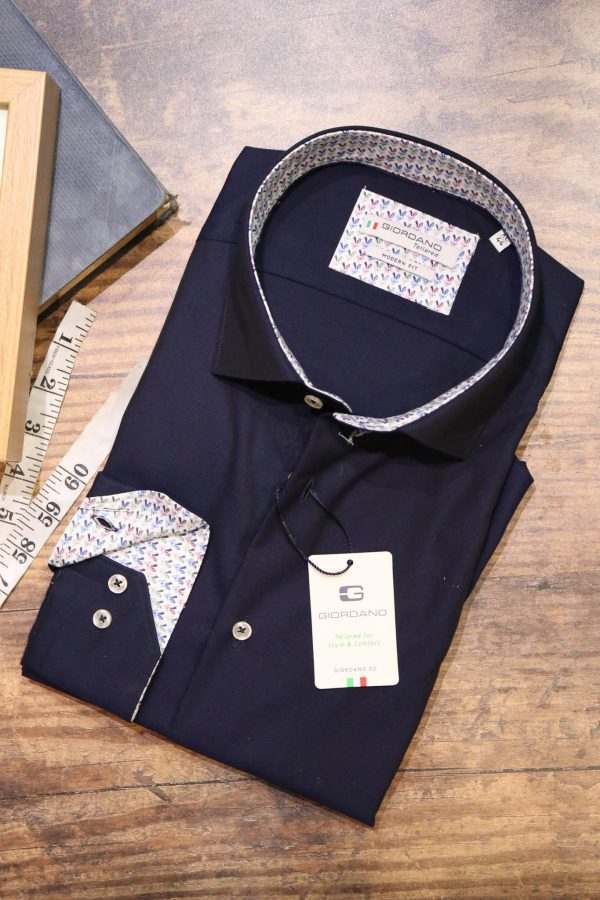 Navy Blue Giordano Shirt