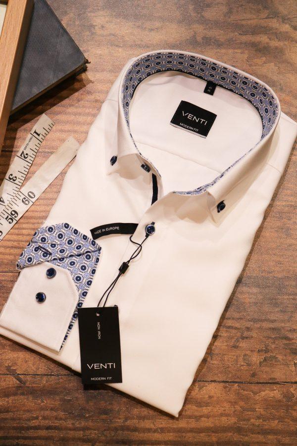 Venti White Cotton Shirt